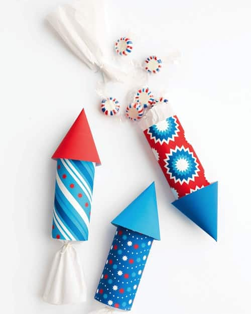 Rocket party favors for 4th of July