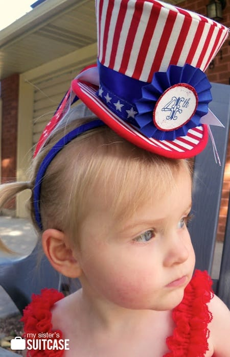 Uncle Sam hat with 4th of July printables