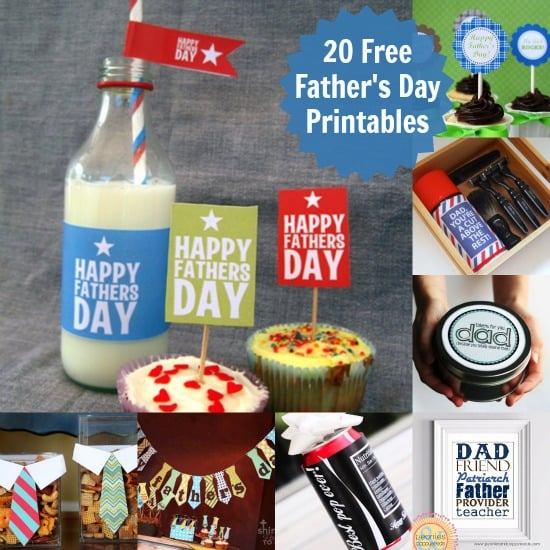 20 Manly and Free Father's Day Printables