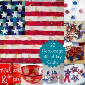 22 Fourth of July Crafts Made with Mod Podge