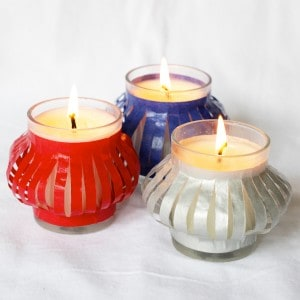 4th of July Decorations: Ten Minute Votives