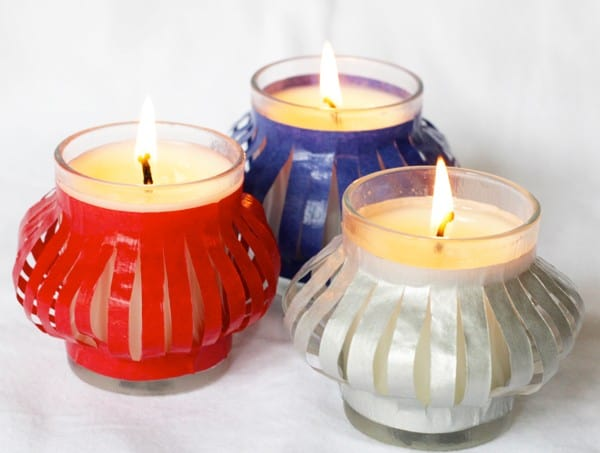 Easy DIY patriotic votives