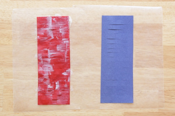 Painting tissue paper with Mod Podge