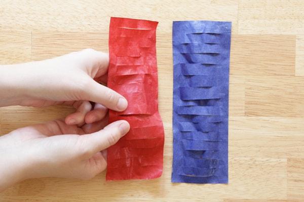 Pull apart tissue paper