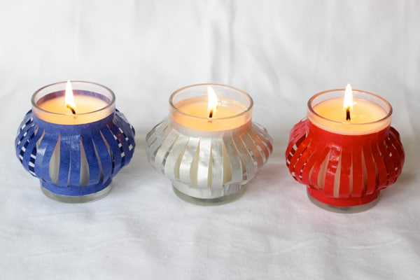 Fourth of July Decorations: Ten Minute Votives