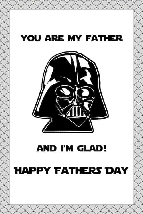 Darth Vader Happy Father's Day printable