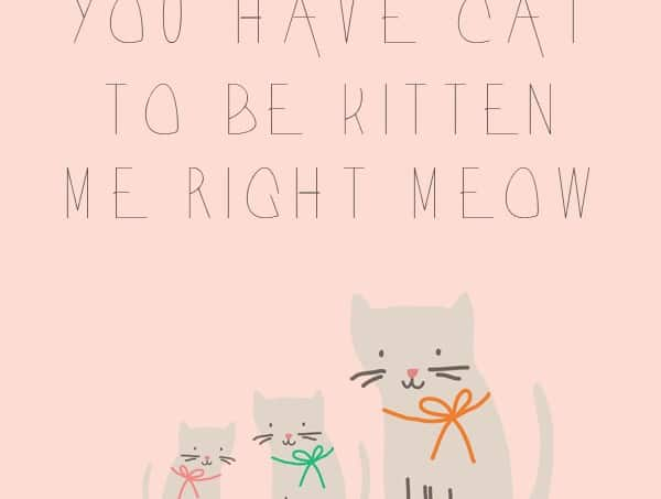 You have to be a cat free printable