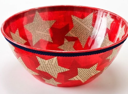 Dollar Store Chip Bowl for the 4th of July