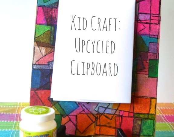 Crafting with children - make this cute upcycled clipboard