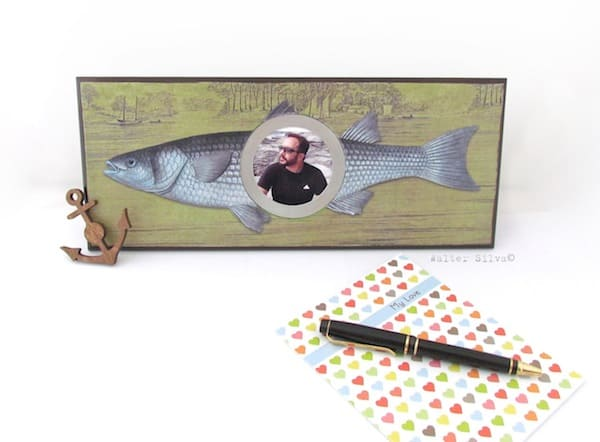 Rustic Fish Themed DIY Frame - Mod Podge Rocks