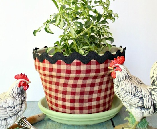 Decoupage a terra cotta planter