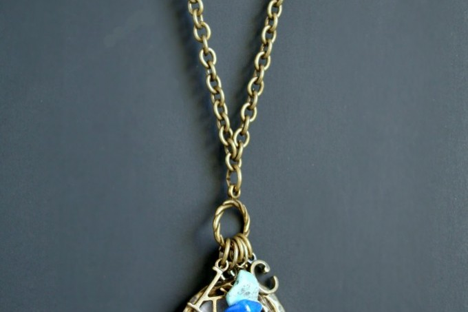 Dimensional Magic silhouette pendant necklace