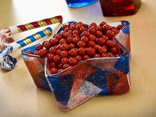 Fourth of July Craft - Sparkle Candy Dish