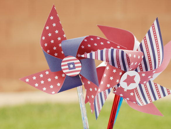 Fourth of July pinwheel printables