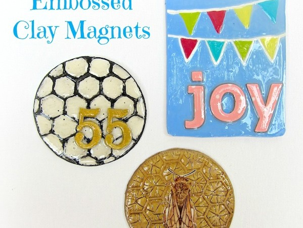 How to make embossed clay magnets