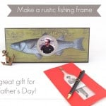 Rustic fish themed DIY frame
