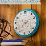 Map craft: how to make a clock