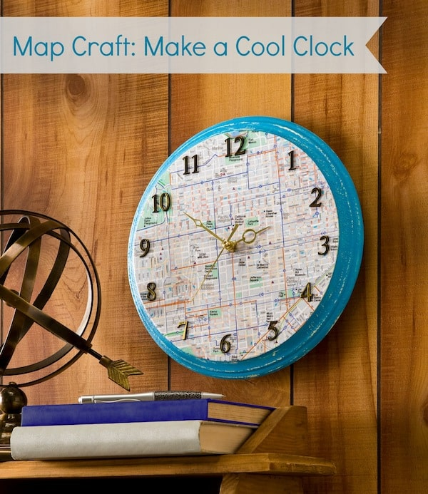 How to Make a Map Clock with Mod Podge