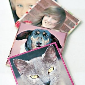 Make personalized photo coasters