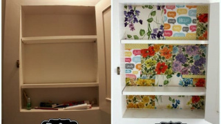 Re-Do a Medicine Cabinet with Scrap Paper