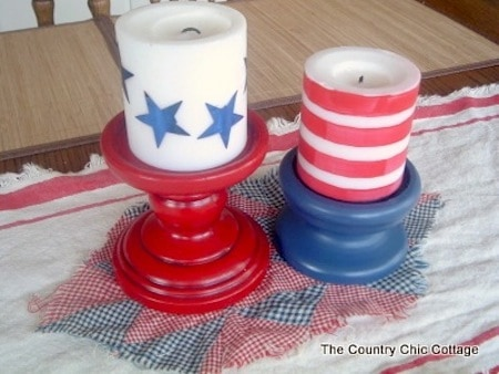 Fourth of July Candle Centerpiece