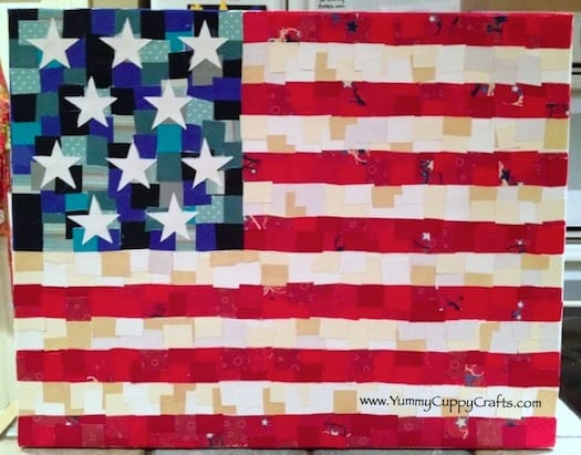 American Flag Canvas Tutorial