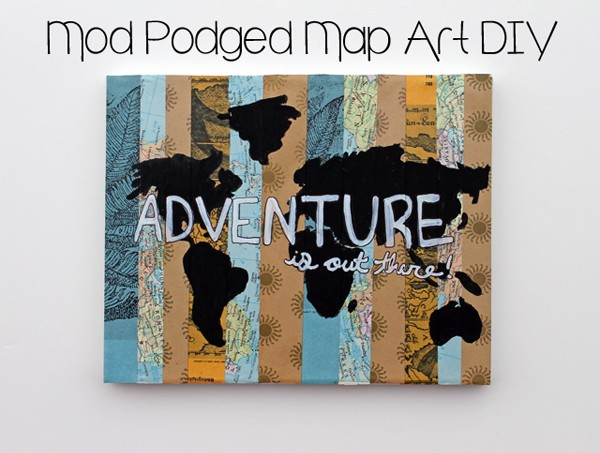 DIY paper strip map art