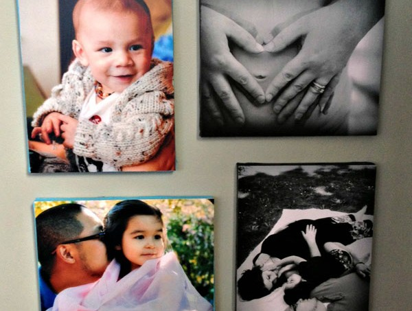 DIY canvas pictures with your favorite photographs