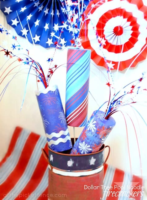 Patriotic Pool Noodle Firecrackers