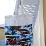 DIY beach tote with Mod Podge