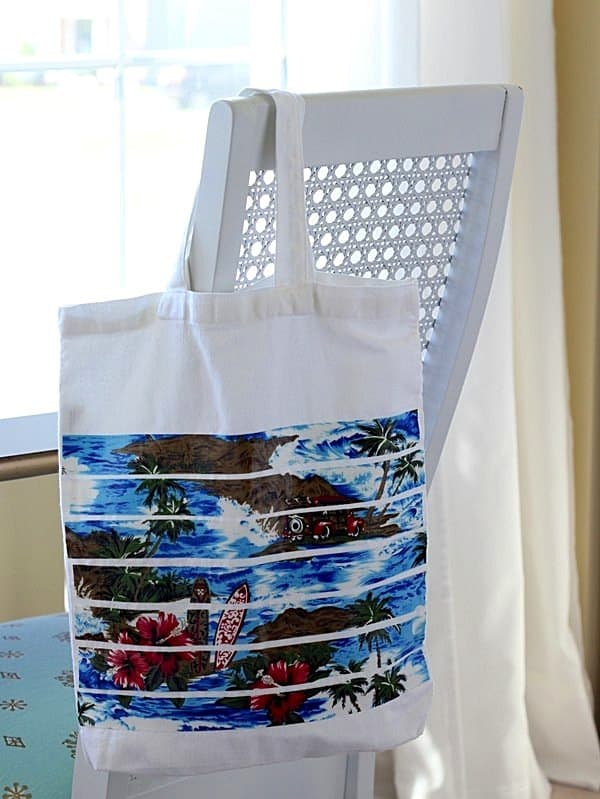 DIY beach tote using Mod Podge