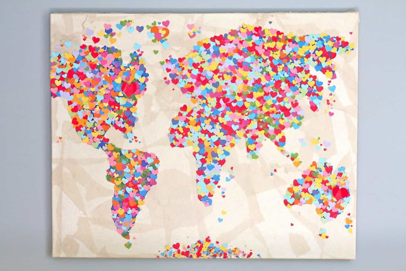 For Those Who Love The World A Heart Map Mod Podge Rocks