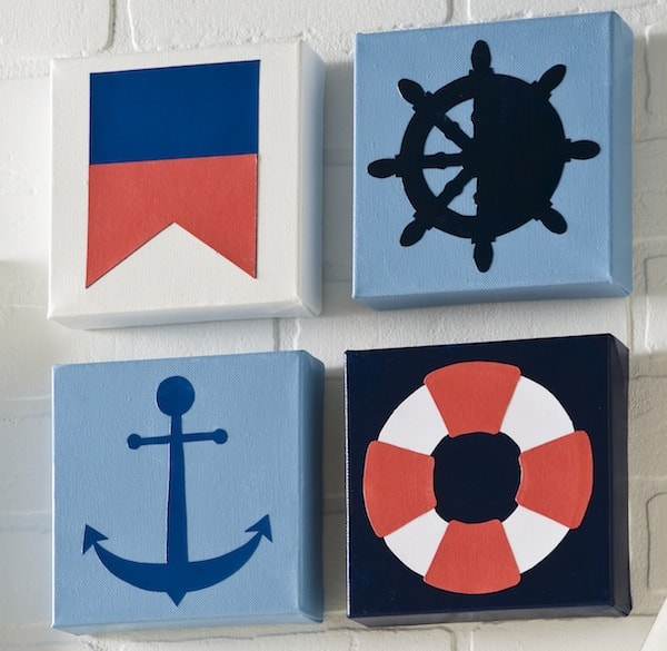 DIY nautical canvases