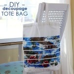 Decorate a beach tote with decoupage
