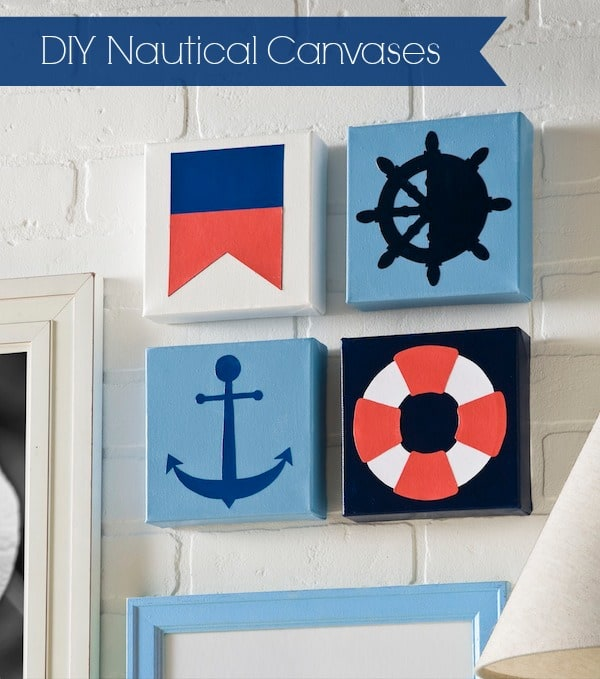 Diy nautical inspired canvases mod podge rocks for Nautical projects