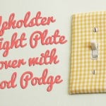 Easy Decorative Switch Plates with Mod Podge