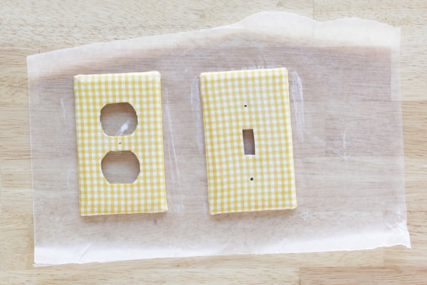 Upholster a Light Switch Plate with Mod Podge