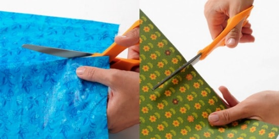 Cut the fabric and paper