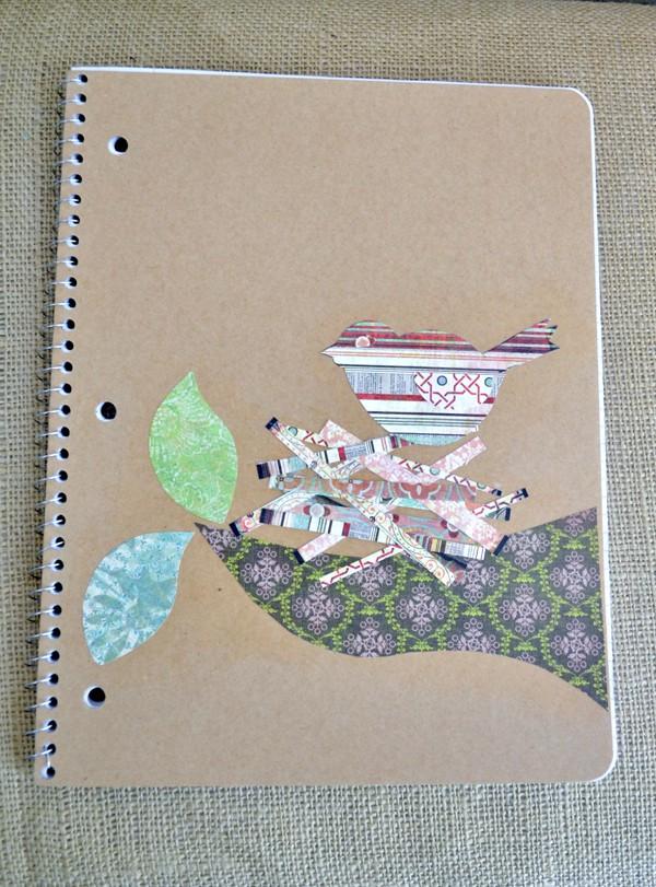 mod podged kraft notebooks