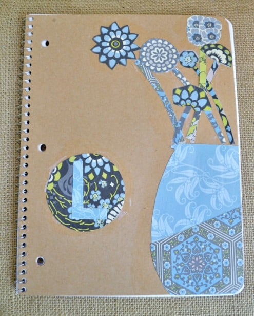 mod podged kraft notebooks