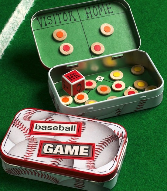 Mini DIY Travel Games from altoids tins