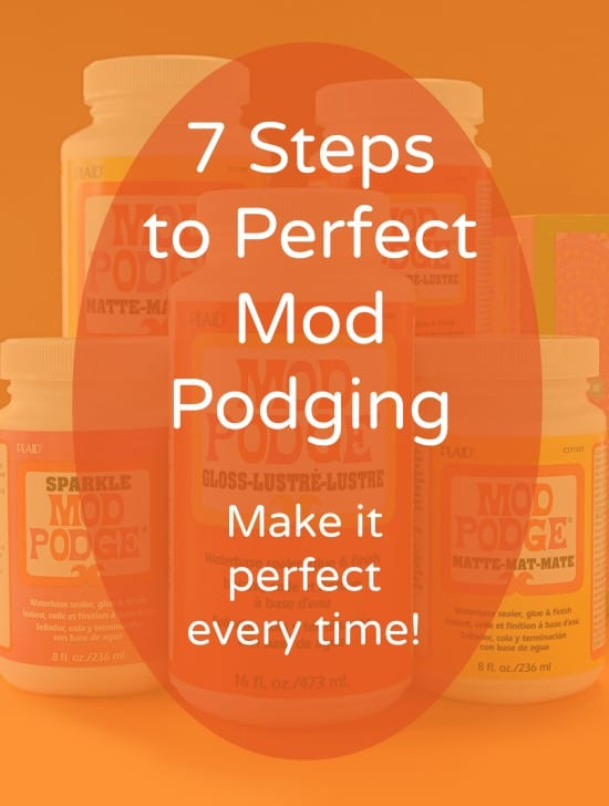 How to Decoupage 7 Steps to Perfect Mod Podging , Mod Podge