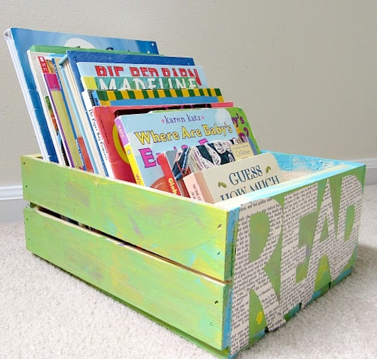 Simple kids crafts - DIY book crate