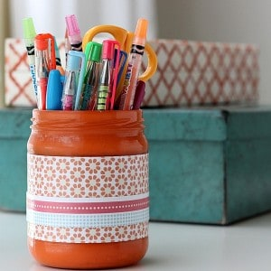 Cute DIY Pencil Holder from a Jar (Free ...