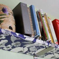 How to Decoupage Fabric Onto Shelves