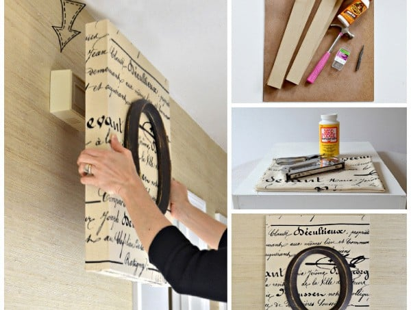 How to hide that ugly doorbell with a handmade canvas