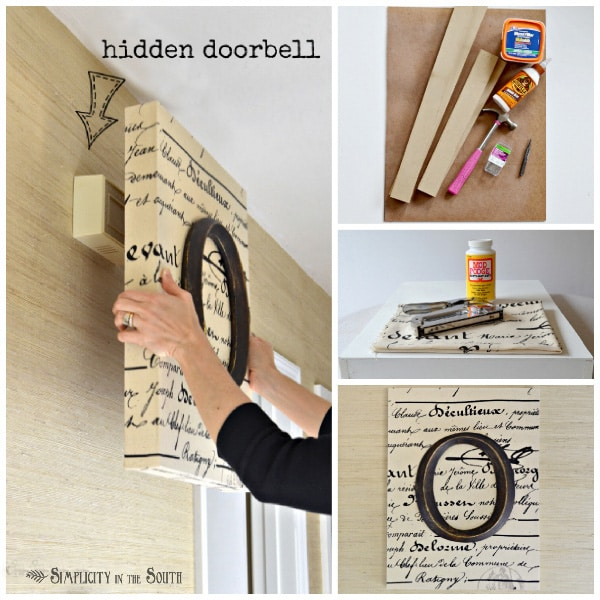 Hide that ugly doorbell - Mod Podge Rocks