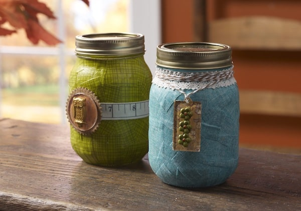 Decorate mason jars - perfect for fall gift giving