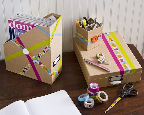 Decorate your desk accessories with cool tapes