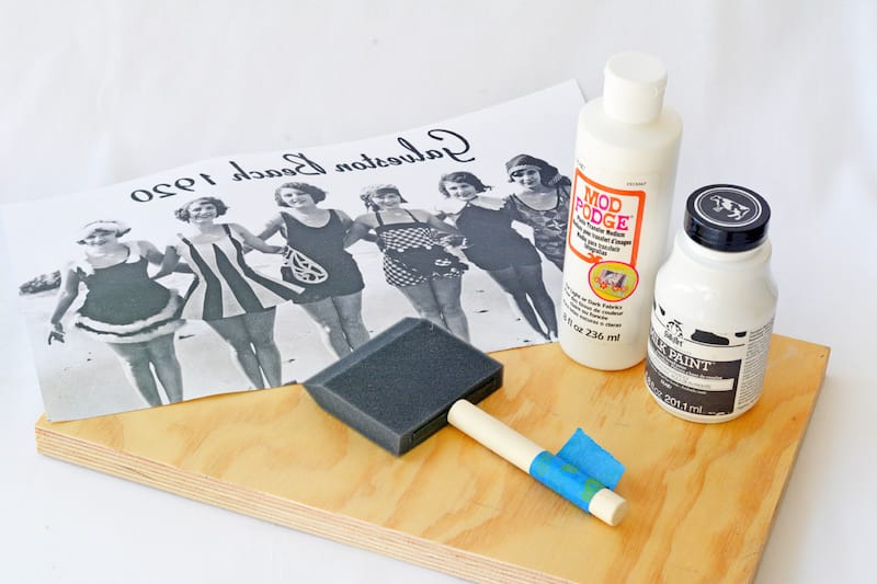 Photo transfer to wood supplies